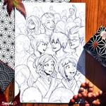 Inktober 2017 - 13# Teeming by Shalinka