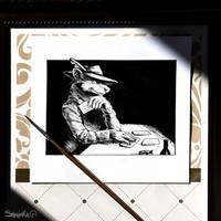 Inktober 2017 - 15# Mysterious by Shalinka
