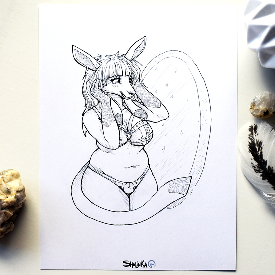 Inktober 2017 - 16# Fat by Shalinka