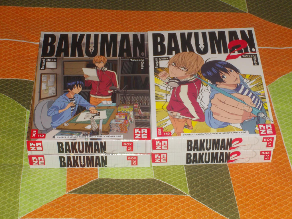 My French Bakuman DVD collection by gekkodimoria