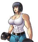 Muscle Hinata workout like Terry Bogard (Wolf)