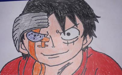 Luffy under control of Urashiki by gekkodimoria