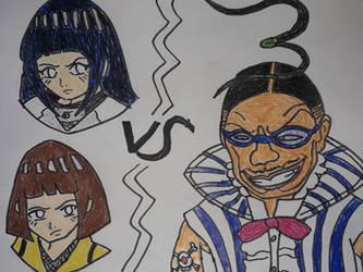 Hyuuga Sisters VS Mr. 3 Galdino by gekkodimoria