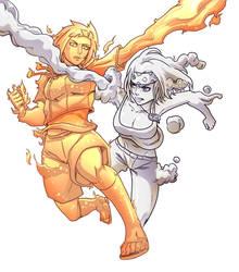 Hinata VS Hayley by gekkodimoria