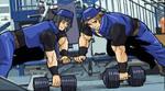 Hinata like Harry workingout 05 by gekkodimoria