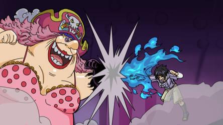 Hinata VS Big Mom by gekkodimoria