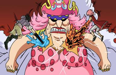 Hinata and Sakura VS Big Mom by gekkodimoria