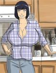 Hinata like Lisa Ann(Busty Mother) by gekkodimoria