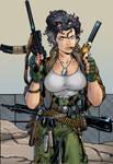Hinata like Christine Blaze(Wildstorm) by gekkodimoria