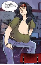 Hinata like Milena Velba(Bike Work Outfit) 3 by gekkodimoria