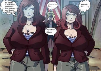 Hinata and Hanabi Mean Busty Businesswomen 1 by gekkodimoria