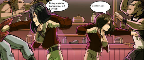 Hinata and Hanabi like Covergirl (G.I.JOE) 2 by gekkodimoria