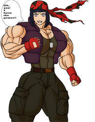 Hinata like Ralf Jones 03(King of Fighters) by gekkodimoria