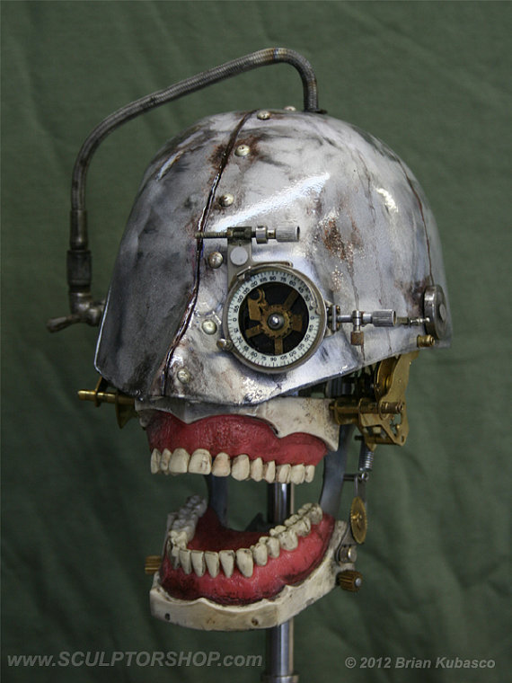 Steampunk Skull Industrial Art Dental Medical Mani by Sculptured