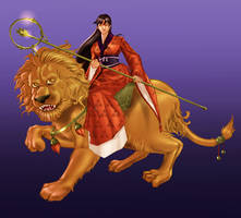 Lion Priestess by SandsGonzaga