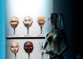 Shelf Faces by SandsGonzaga