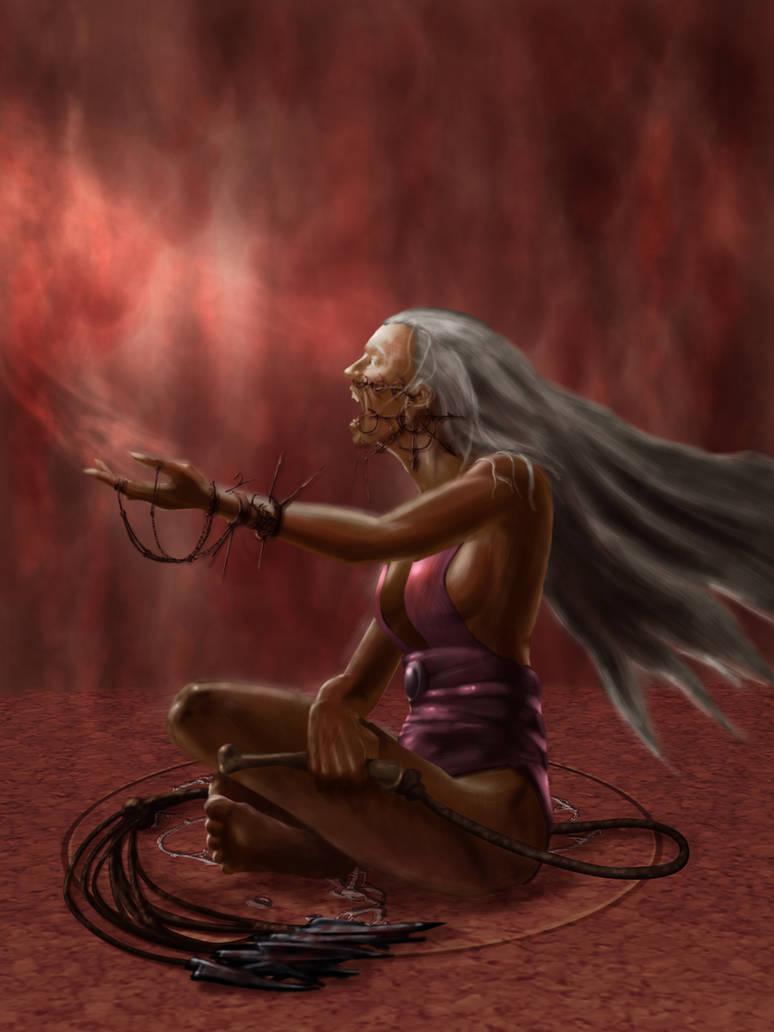 Cleric of Loviatar by SandsGonzaga