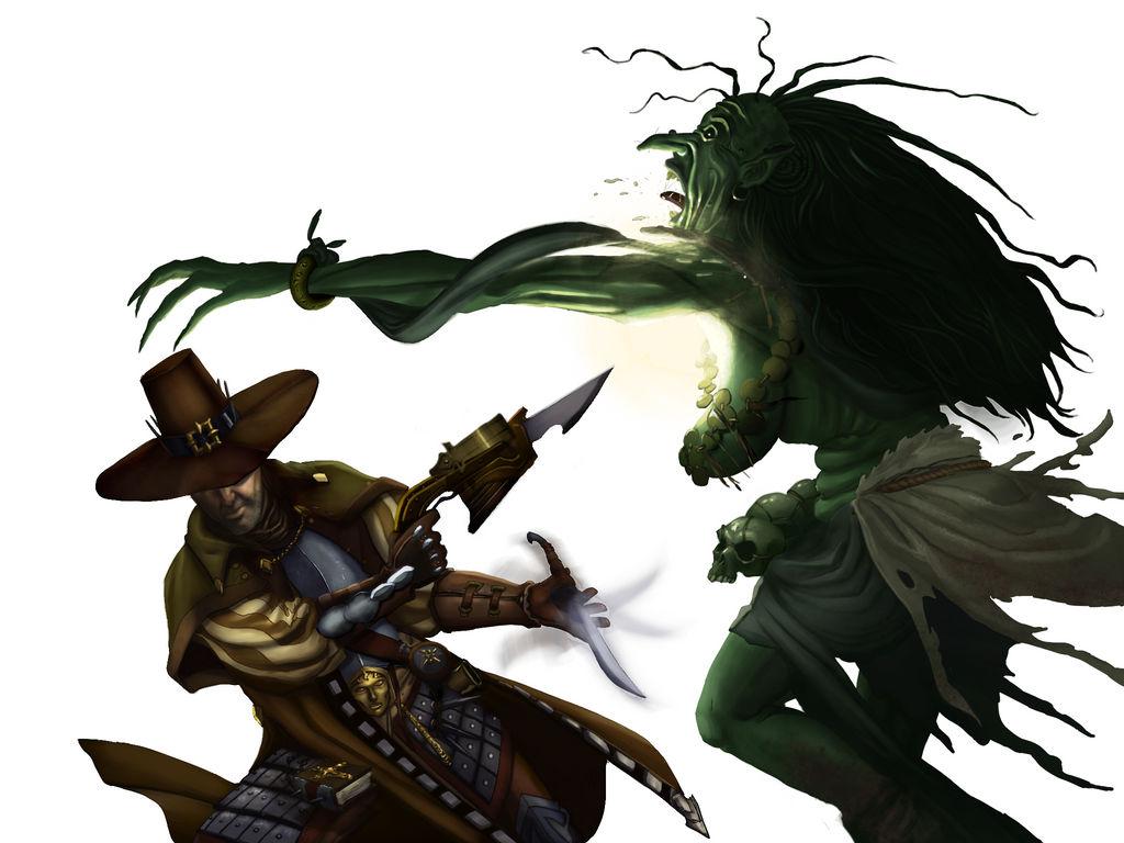 Witch Hunter vs Green Hag by SandsGonzaga