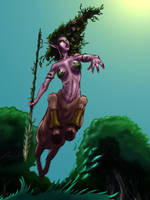 Aiustha, the DOTA dryad by SandsGonzaga