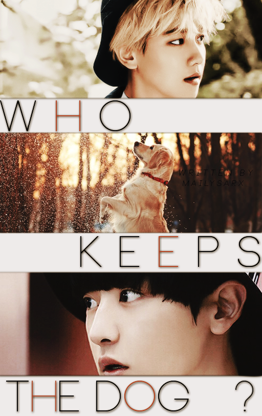 WHO KEEPS THE DOG? \\ CHANBAEK [COVER WATTPAD] by mailysarx on