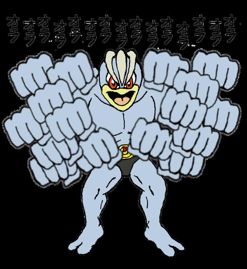 The Peculiar Pokedex - Machamp by El-Drago-800
