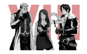 VIII - Rinoa, Squall, and Seifer