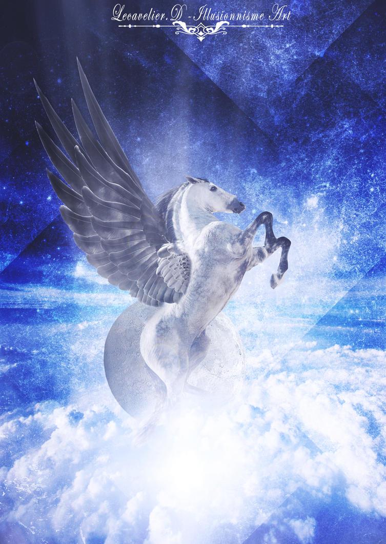 Mystical horse by Lecavelierdcrea