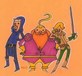 The Warrior's Three by meltingdoll