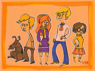 Scooby Doo cast by meltingdoll