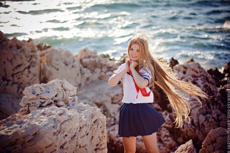 Belldandy. In the wind by TaisiaFlyagina