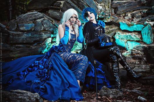 Blue Rose and Graph by TaisiaFlyagina