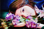 Yuna in flowers