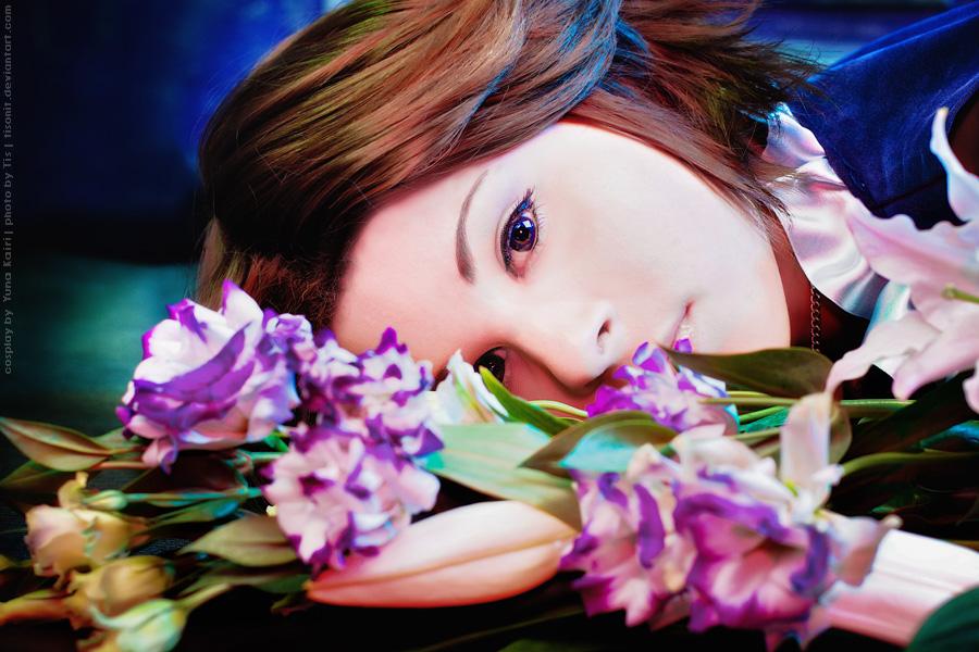 Yuna in flowers by TaisiaFlyagina