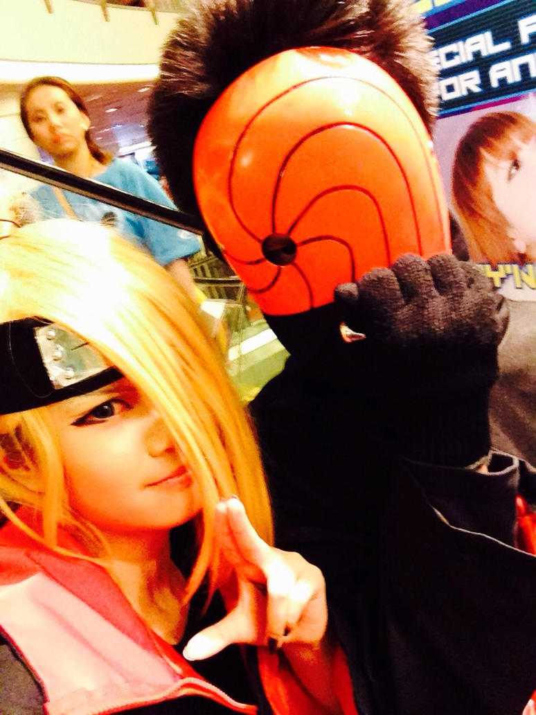 Deidara and Tobi at Animax 2015 by LittleKumiko