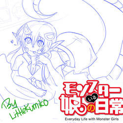 Miia Sketch - Monster Musume by LittleKumiko