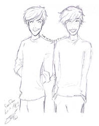 Dom's Weasley twins request by Acaela