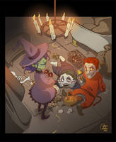 Trick or treaters by saspy