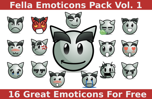 Fella Emoticons Pack Vol. 1 [Link in description]