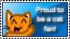Proud Cat Fan Stamp by ami2414