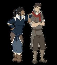 Korra and Mako by BlueDecember89