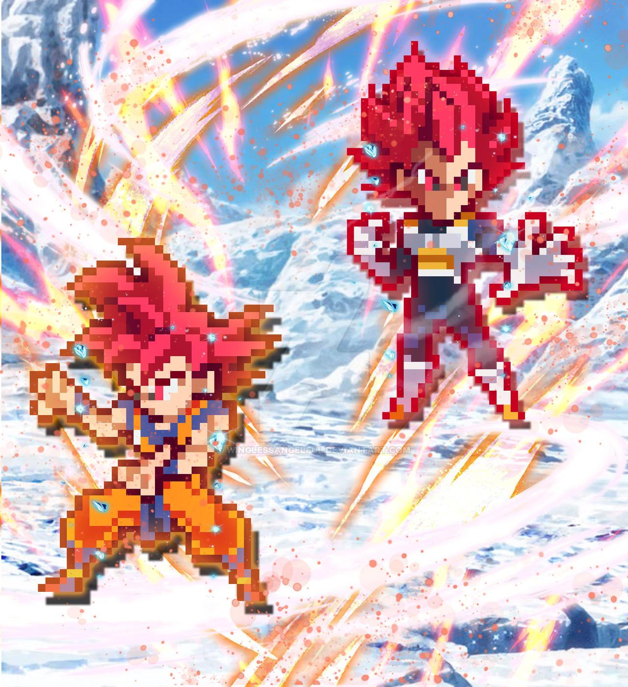 Dragonball Super Super Saiyan God Vegeta And Goku By