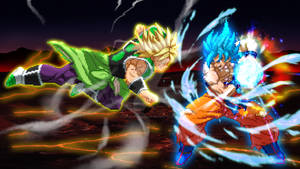 Goku Vs Broly Poster: Extreme Butoden