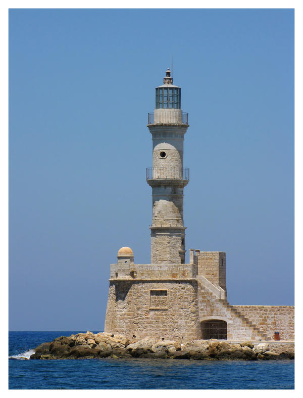 Lighthouse in Chania by Pajunen