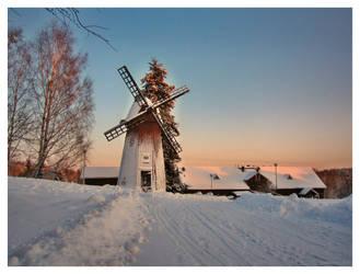 A Frozen Windmill by Pajunen