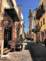 On the Streets of Old Chania by Pajunen