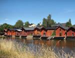 Old sheds in Porvoo