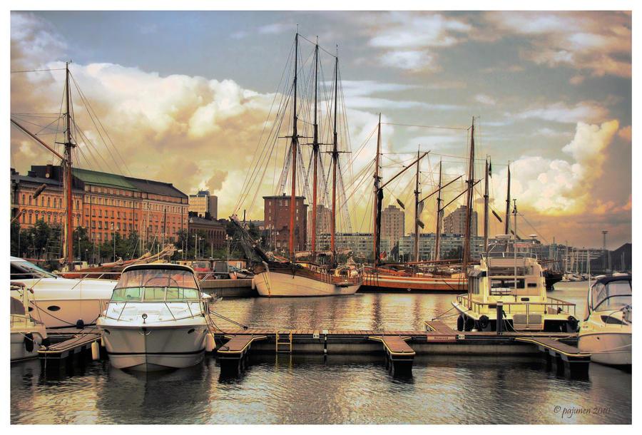 Helsinki Harbour by Pajunen