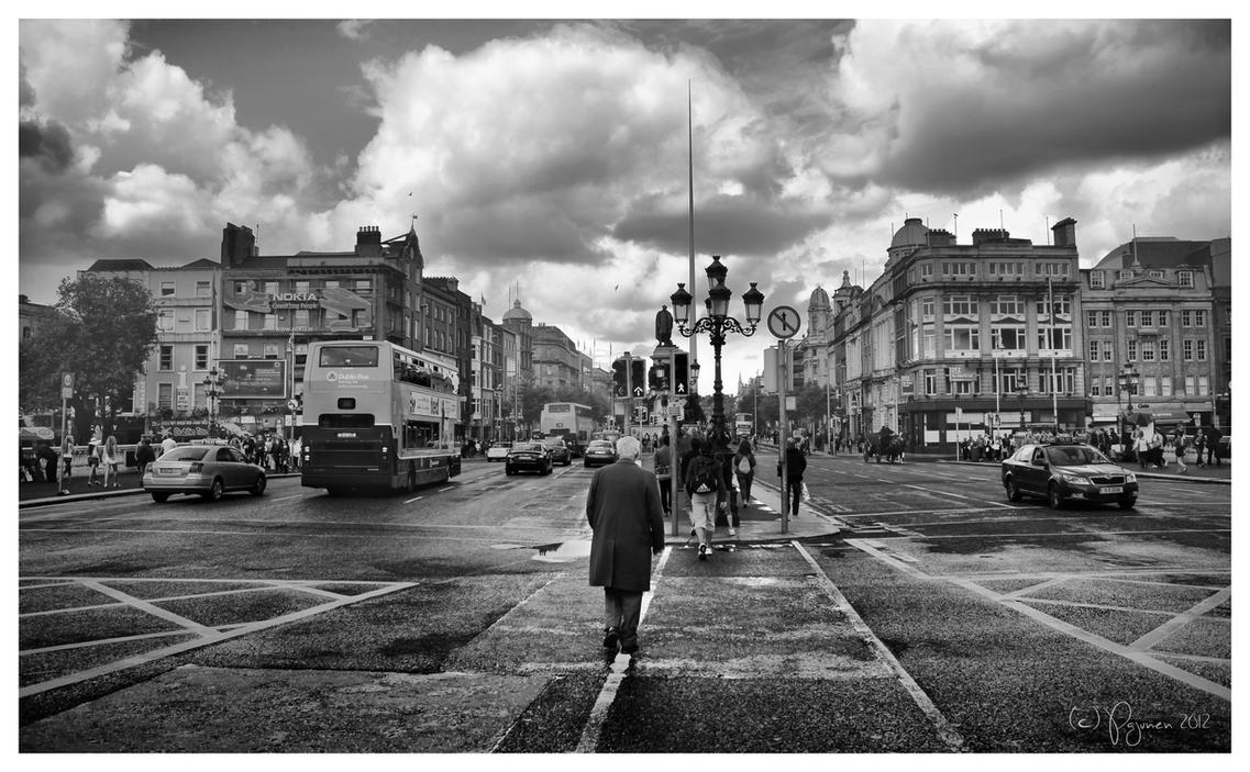 Walking the Streets of Dublin by Pajunen