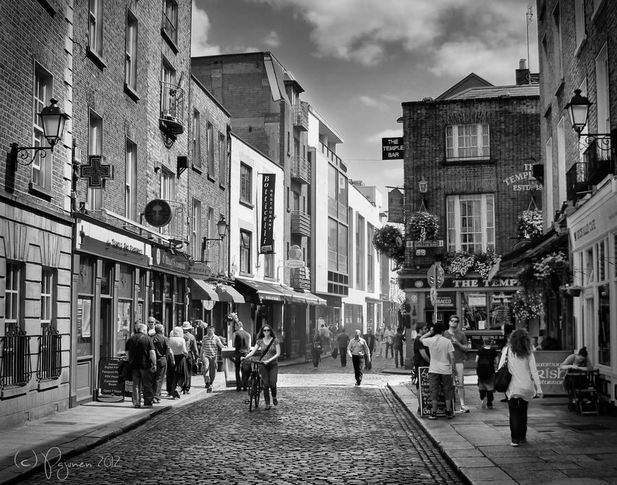 The Temple Bar, Dublin by Pajunen