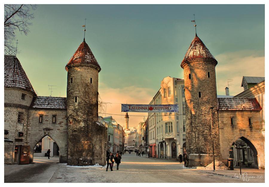 Tallinn in January by Pajunen